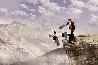 Business Battle On Top Of Cliff Stock Photos - Image: 28538473