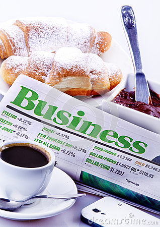 Business Breakfast Editorial Stock Image