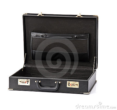 Business Briefcase Open