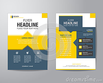 Business brochure flyer design layout template in A4 size, with Vector Illustration