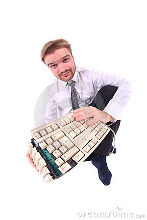 Business and broken keyboard