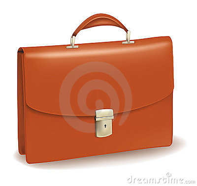 Business brown briefcase.