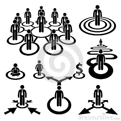 Business Businessman Workforce Team Pictogram