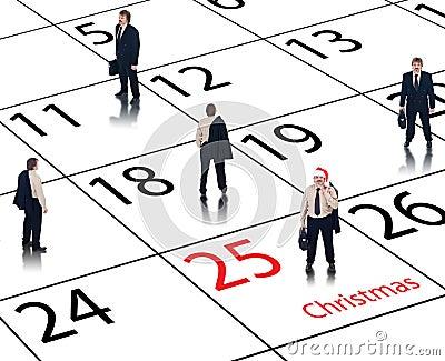 Business calendar for the holidays