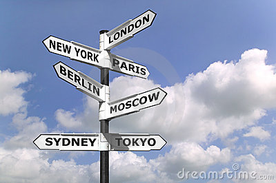 Business Capitals signpost