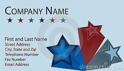 Business Card with 3D Stars
