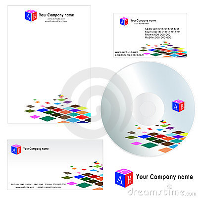 Business Card For Company - Letterhead Template Stock Image - Image ...
