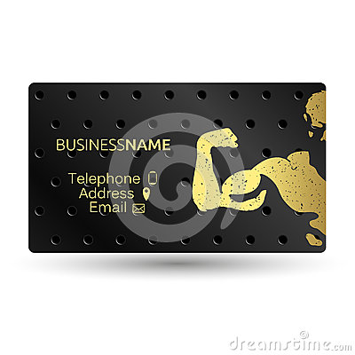 Free Business Card For A Gym Royalty Free Stock Photos - 87489668