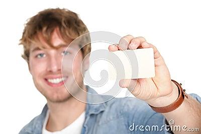 Business card man
