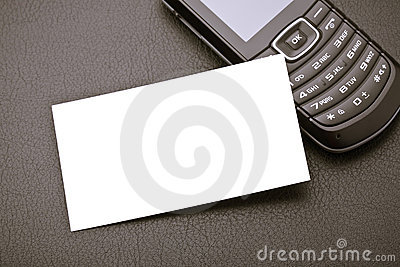 Business card and mobile