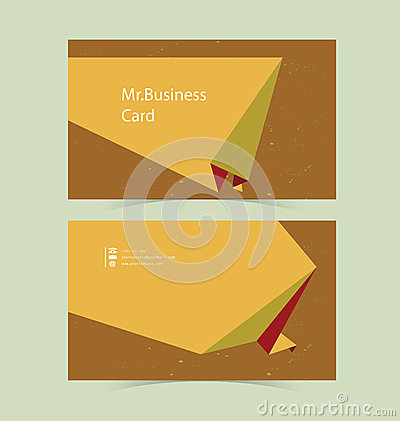 Business Card Origami Background