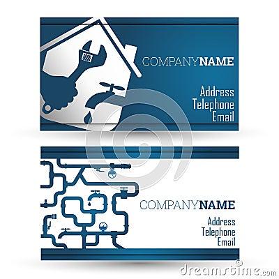 Business Card Repair Waterpipe Stock Vector Image 53011558