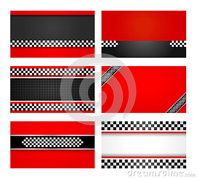 Business card set - Rally driver templates