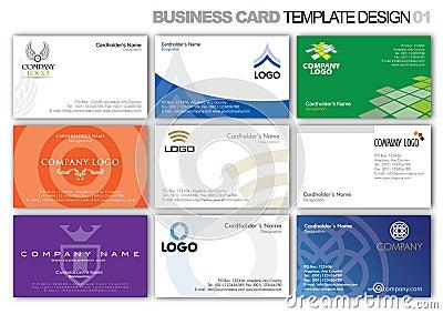 Business Card Template Design 001