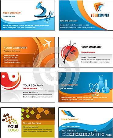 Business card template design - vector file