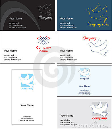 Business card template design - vector file