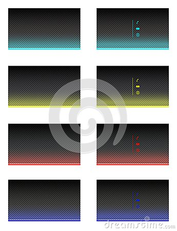 Business card templates set