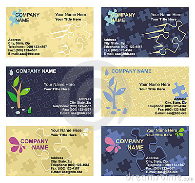 Free Business Card Templates Set Royalty Free Stock Image - 6029036