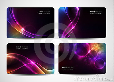 Business cards with abstract light