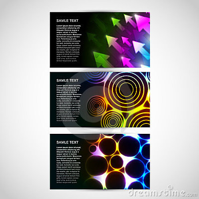 Business Cards with abstract themes
