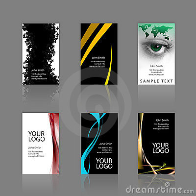Free Business Cards Assortment Royalty Free Stock Photos - 5449758