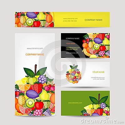 Free Business Cards Design, Fruit Background Royalty Free Stock Photos - 42854448