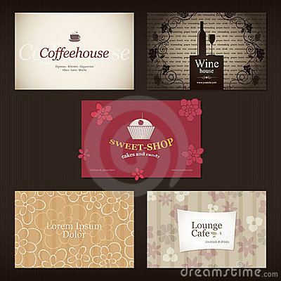 Free Business Cards. For Cafe And Restaurant Royalty Free Stock Image - 23059206