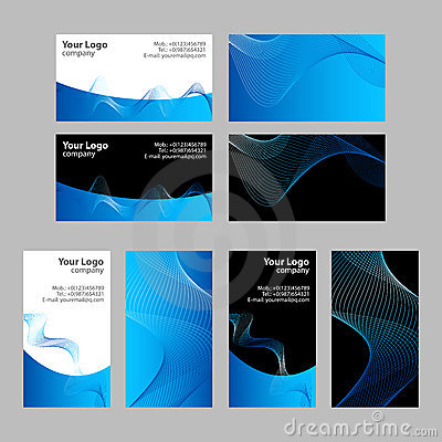 Business cards templates, front and back