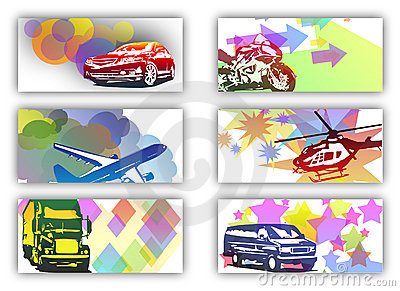 Business cards with vehicles
