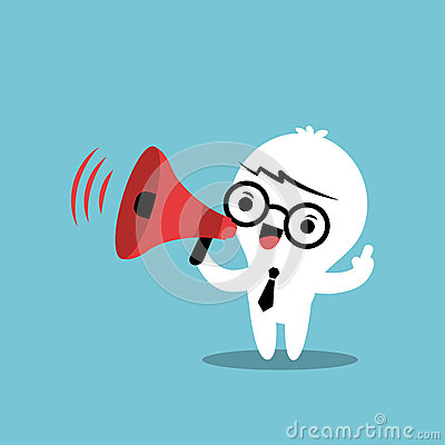 business cartoon character with megaphone make an Small Business Clip Art Small Business Clip Art