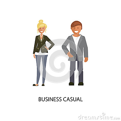 Business casual style Vector Illustration