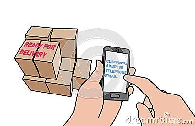 Business through cellphone