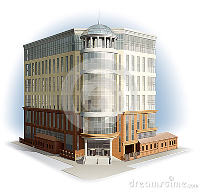 Business center. Detailed illustration.