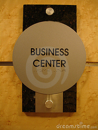 Free Business Center Sign Royalty Free Stock Image - 909946