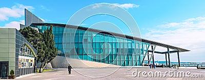 Business centre on boulevard. Baku city Azerbaijan Editorial Stock Photo