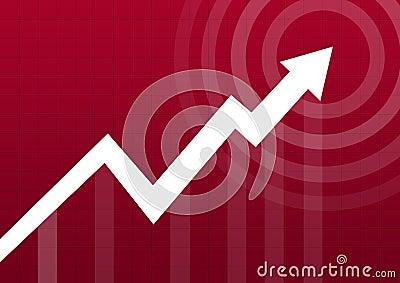 Business chart arrow point