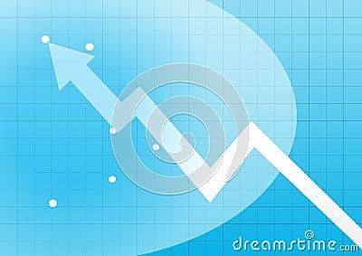 Business chart arrowhead