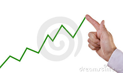 Business chart showing positive growth trend