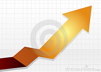 Business chart white