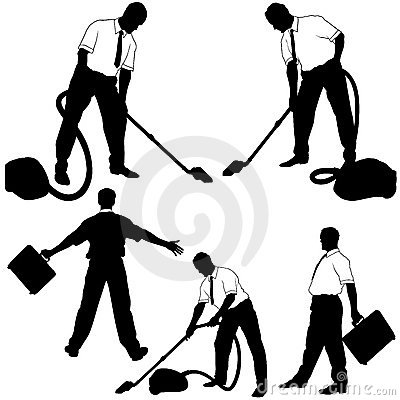 Business Cleaning Silhouettes