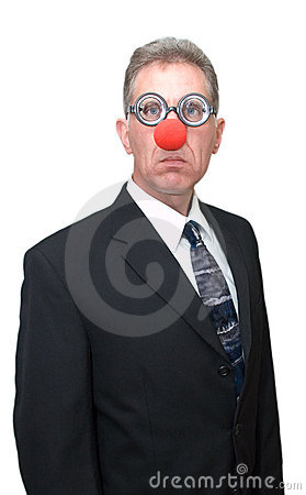 Business Clown, Funny Businessman Humor