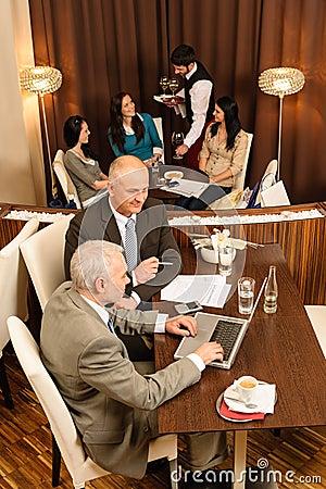 Business coffee break executive business men