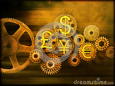 Business Cogs Global Money