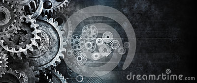 Business Cogs Technology Background Stock Photo