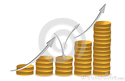 Business coin illustration design