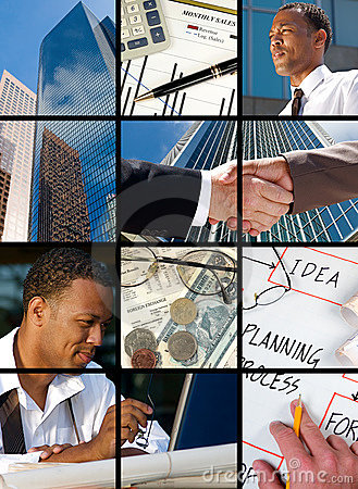 Free Business Collage Royalty Free Stock Photography - 6316787