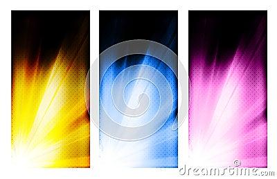 Business color brochure design set