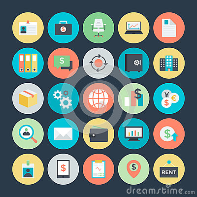 Free Business Colored Vector Icons 4 Stock Image - 70196501