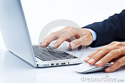 Business Computer Hands Marketing