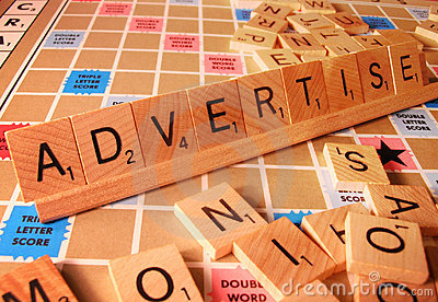 Business Concept - Advertise Scrabble Word